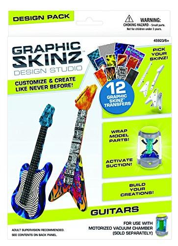 Mega Brands RoseArt Graphic Skinz Design Set, Guitars (Boy)