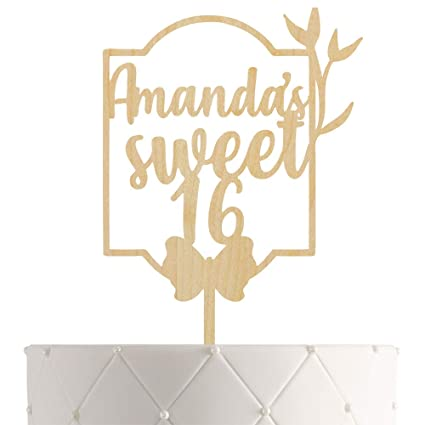 Astounding Personalized Sweet 16 Birthday Cake Topper With Customized Name Funny Birthday Cards Online Necthendildamsfinfo