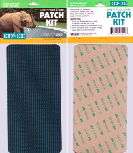 Loop Loc Mesh Patch Kit - Incls. 3- 4 Inch X 8In Adhesive Transfer Patches For Loop Loc Mesh Safety Covers (Mesh Safety Cover)