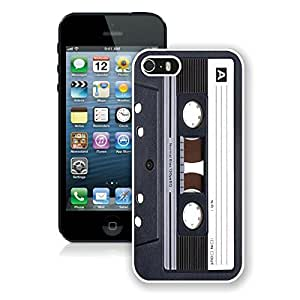 Classic Apple Iphone 5s Case Audio Cassette White Silicone Cell Phone Case Cover for Iphone 5