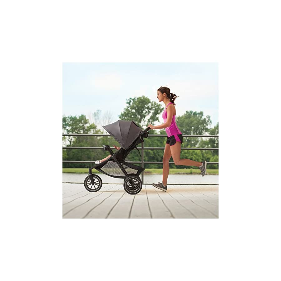 Evenflo Folio3 Stroll & Jog Travel System with LiteMax 35 Infant Car Seat