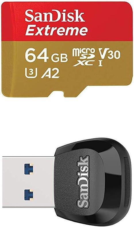 SanDisk Extreme - Tarjeta de memoria microSDXC de 64 GB con ...