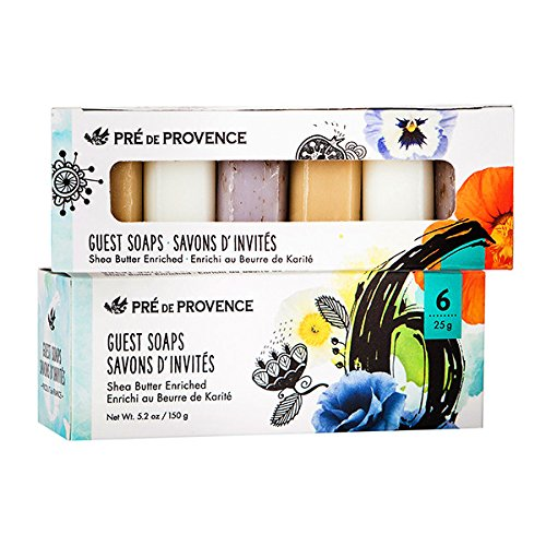 (Pre de Provence Luxury Box of Guest Gift Soap, (Set of 6) Classic French)