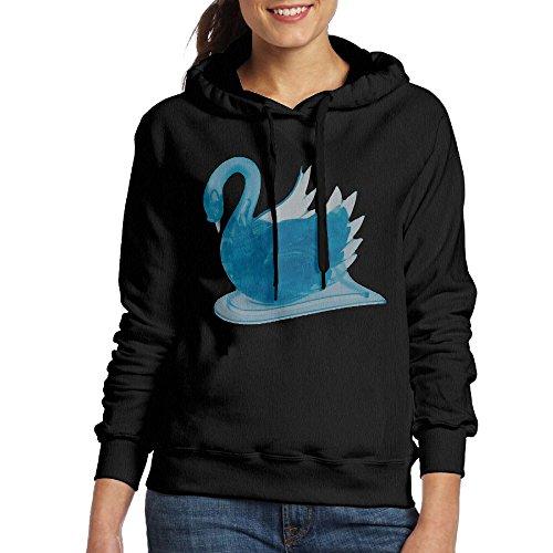 Wxf Women Blue Swan Casual Style Walk Black Sweater XXL