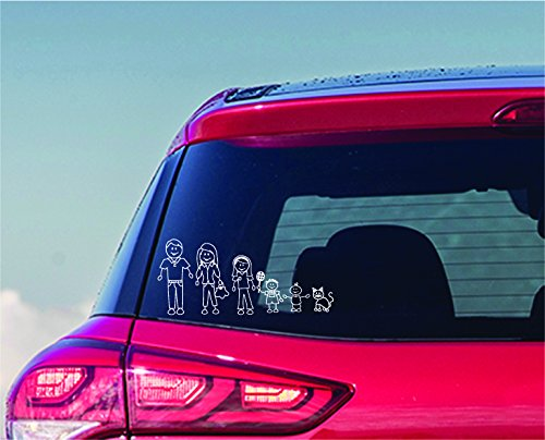 Outdoor Rated Vinyl Sticker Decals Enjoy It Traditional Family Car Stickers Stick Figure Family 20 pieces