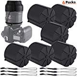 Silicone Universal Lens Caps, Waterproof Dustproof Lens Case Cover Replacement with Anti-Lost Rope for 60mm-110mm DSLR Camera Lens(6 Packs)