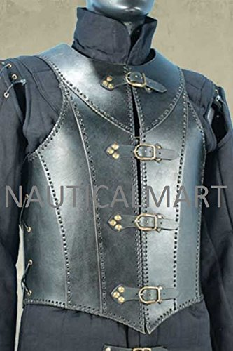 Veterans Leather Body Armour Black By NauticalMart