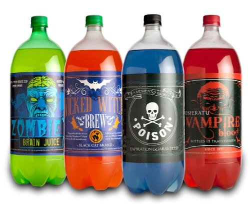 Morbid Enterprises - Halloween Glow in The Dark Soda Bottle Labels