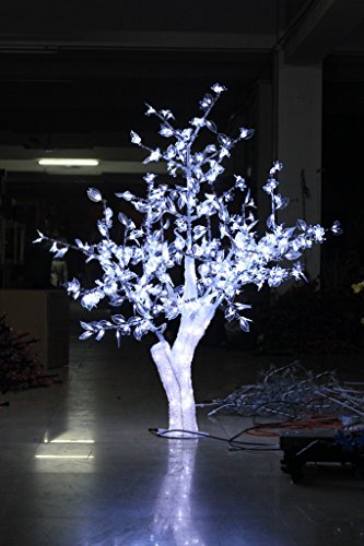 Christmas New year brithday holiday Home party tree 1.5M 5ft height Crystal Cherry Blossom Tree White Leafs waterproof by Generic (Image #3)