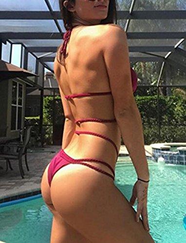 Piscina Pezzi Da Spiaggia Sexy Brasiliani Set Bikini Imbottito Costumi Nuoto Bendare Bagno Da Rosso Due Up Fascia Costume Donna Mare Push YuanDian Perizoma qtUYaa