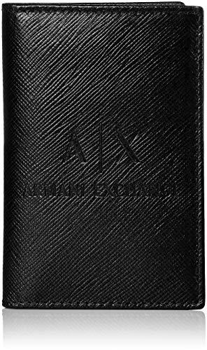Armani Exchange Men's Embossed Card Holder, nero/black UNI