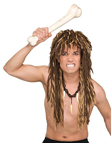 Adult Caveman Untamed Twisted Dreds Brown Shag Costume Wig (Homeless Costumes For Girls)