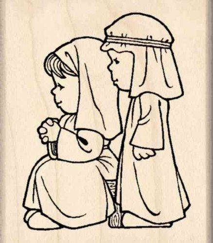 Stamps by Impression Mary & Joseph Christmas Nativity Rubber - Rubber Nativity