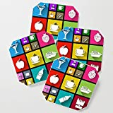 Society6 Drink Coasters, Gastro Windows 8.1 by dipweb, set of 4
