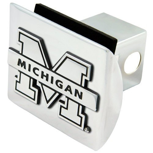 Michigan Wolverines Chrome Trailer Hitch Cover Football Fanatics