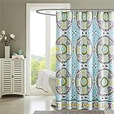 Madison Park Samara Shower Curtain Aqua 72x72