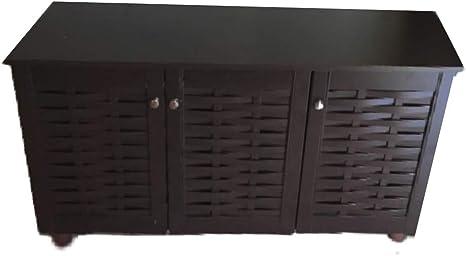 Amazon Com 19 Pair Shoe Storage Cabinet Xl Large Bench Entrance Organizer Footwear Closet Accent Heavy Duty Mid Century Rustic Patio Ebook Kitchen Dining