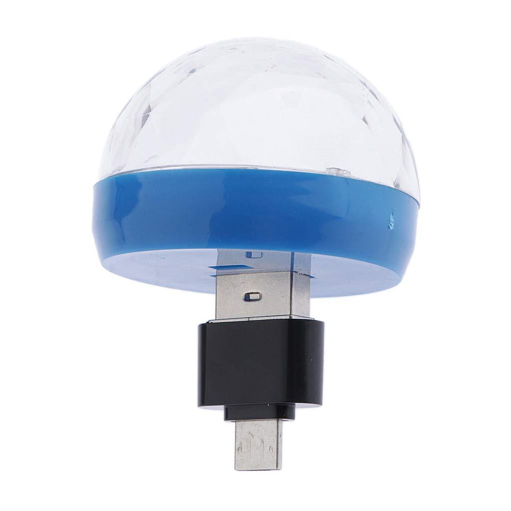 USB Party Lights Mini Disco Ball Led Small Magic Ball DJ Stage Light L/ámpara Estrobosc/ópica Colorida RGB Para El Hogar KTV Xmas Party Wedding Show Cl Blanco para Android