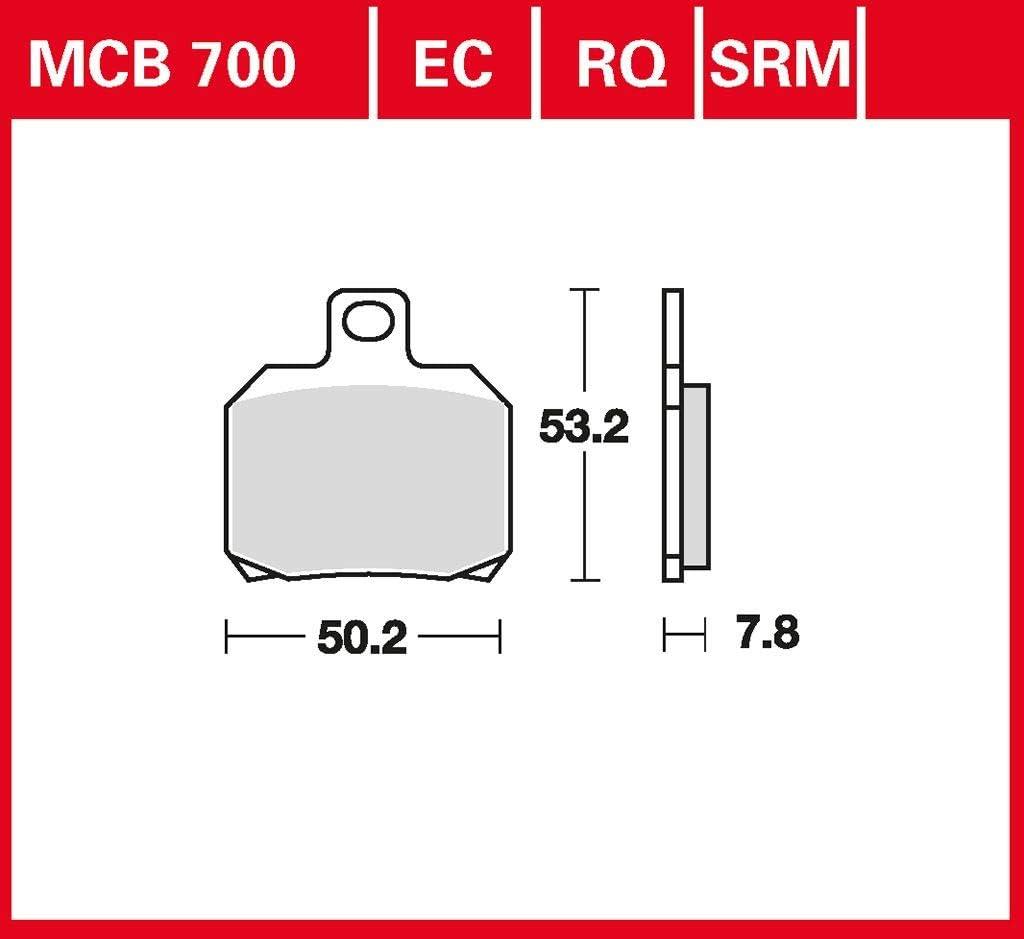Vergaser 01-06 hinten Bremsbelag TRW organischer Allround-Bremsbelag Skyliner 125 SE06