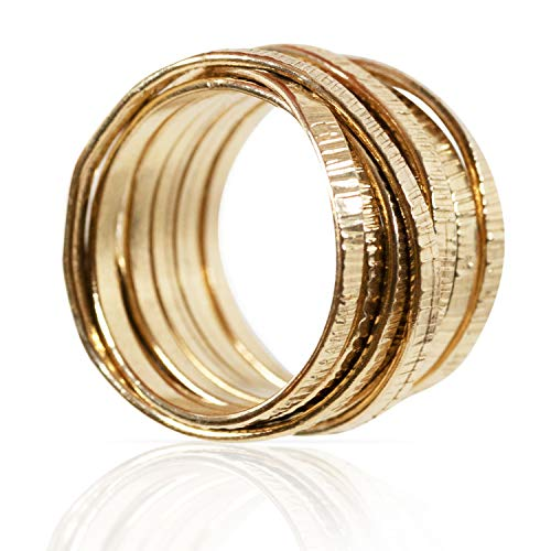 DiDaDo Handmade 18K Gold-Filled 'Wrapped up' Overlapping Knotted Wire Ring ... (8)