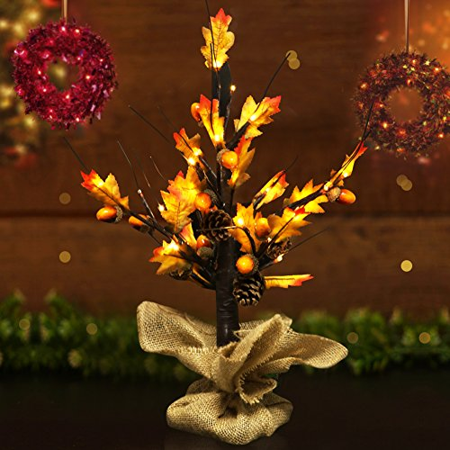Outdoor Lighted Pine Trees - 1