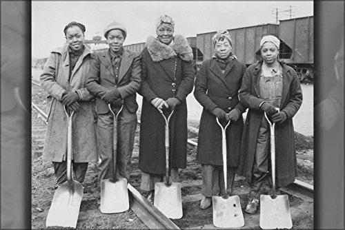 24x36 Poster; Trackwomen, 1943. Baltimore & Ohio Railroad Company, 1940-1945 1941 Poster Print