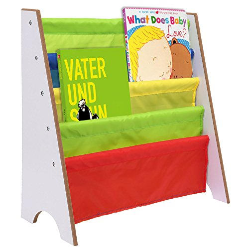 Vividy Kids Book Storage Shelf, Bookcase Book T...