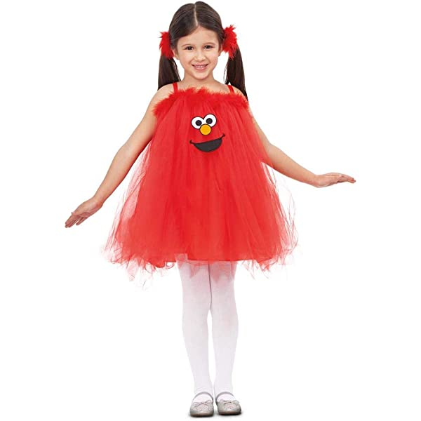 Barrio Sésamo Disfraz de Elmo con Tutú para niña y bebé: Amazon.es ...