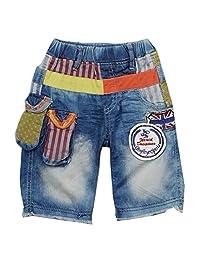 Rock'nStyle Baby Boys Blue Denim American Flag Detail Stripe Dot Shorts 18-24M
