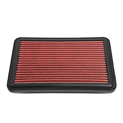 DNA Motoring AFPN-226-RD Washable High Flow Engine Drop-In Panel Air Filter: Automotive