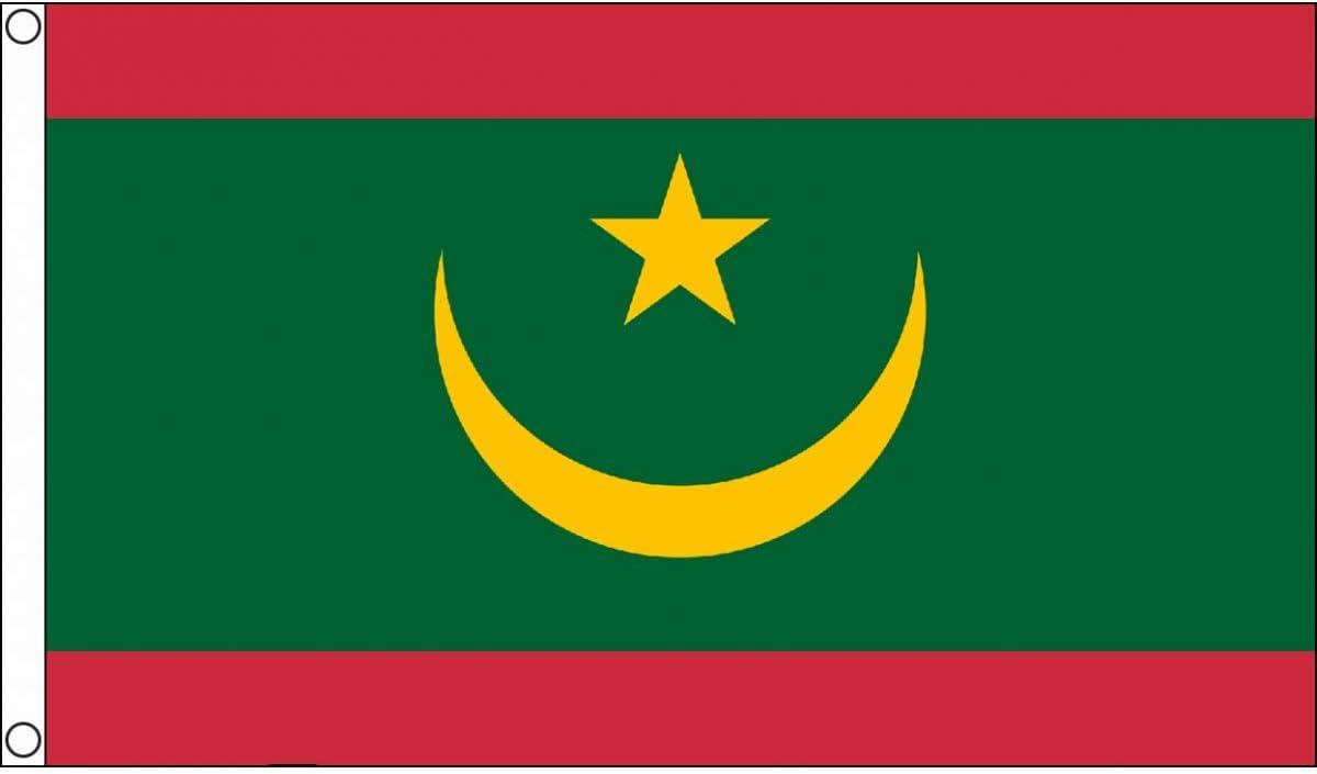 AZ FLAG Bandera de Mauritania 90x60cm - Bandera MAURITANA 60 x 90 cm: Amazon.es: Jardín