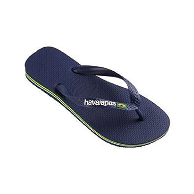 46a960f954886 Havaianas Mens Brasil Logo Flip Flop Navy 11-12  Amazon.co.uk  Shoes   Bags