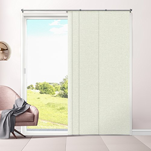 Chicology Adjustable Sliding Panels, Cut to Length Vertical Blinds, Eclipse Honeymilk (Room Darkening) - Up to 80
