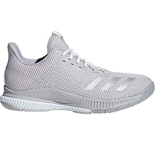adidas Women's Crazyflight Bounce 2 Volleyball Shoe, White/Silver Metallic/Grey, 11.5 M US