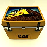 Caterpillar Cat Cooler with Bulldozer Lid Graphic, Cat Yellow, 27...
