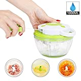 Best Food Choppers - Manual Food Chopper Hand Pull Powerful Vegetable Crusher Review