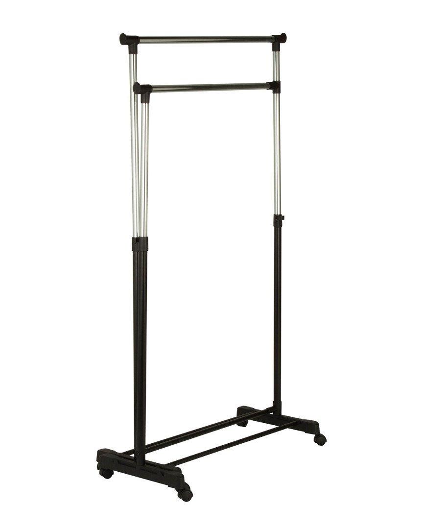 amazon com dual bar corner garment rack home u0026 kitchen