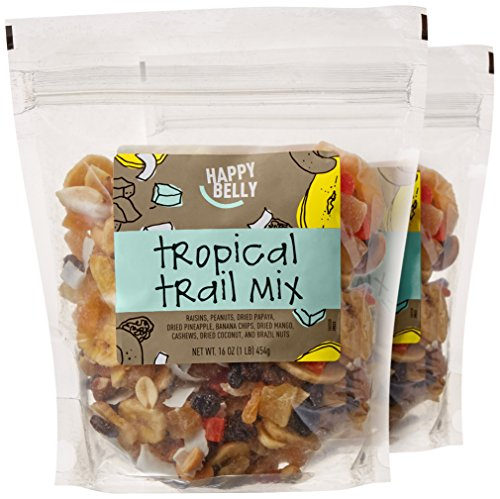 Amazon Brand - Happy Belly Tropical Trail Mix, 16 oz (Pack of -