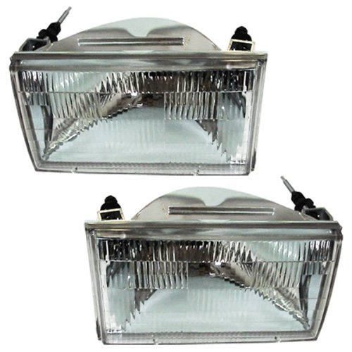(1990-1994 Lincoln Town Car Headlight Headlamp Front Head Lamp Light Set Pair Left Driver AND Right Passenger Side (90 1990 91 1991 92 1992 93 1993 94 1994))