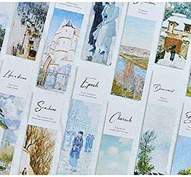 Lot de marque-pages en papier Choix de motifs marqueurs de livre retro