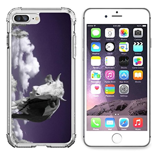 MSD Apple iPhone 6 Plus iPhone 6S Plus Clear case Soft TPU Rubber Silicone Bumper Snap Cases iPhone6 Plus/6S Plus IMAGE ID: 4751899 A cow is in the field is in an infra red color shoot special photoca ()