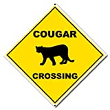 VictoryStore Yard Sign Outdoor Lawn Decorations: 22' Diamond Aluminum Sign - Cougar Crossing