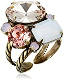 Sorrelli Multi-Cut Crystal Cluster Ring, Pink Peony