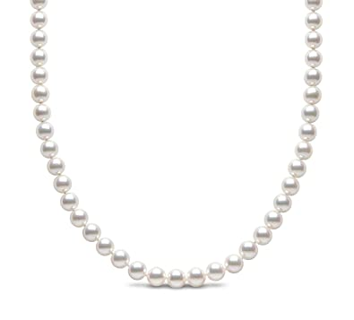 Kimura Cultured Grey Freshwater Pearl 18 Inch Necklace, 9 ct