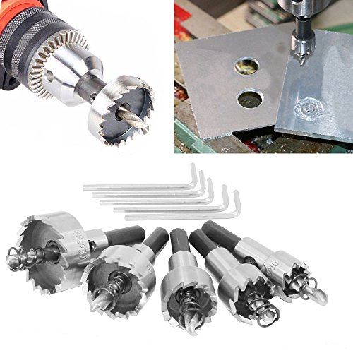 5PCs HSS Drill Bit Hole Saw Set Stainless Steel Metal Alloy 16-30mm - 2