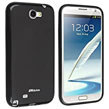 JKase TPU Soft Gel Case for Samsung Galaxy Note II 2 GT-N7100 (Black Full Matte)