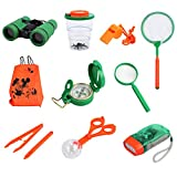 Proster Kids Adventure Kit Childrens Toys Binoculars Flashlight Luminous Compass Magnifying Glass for Playing Outside Camping Bird Watching or a Gift for Children