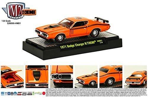 1971 Dodge Charger R/T HEMI / 50 Years of HEMI * M2 Machines Detroit Muscle Series * 2014 Castline 1:64 Scale Die-Cast Vehicle (HM01 14-09)