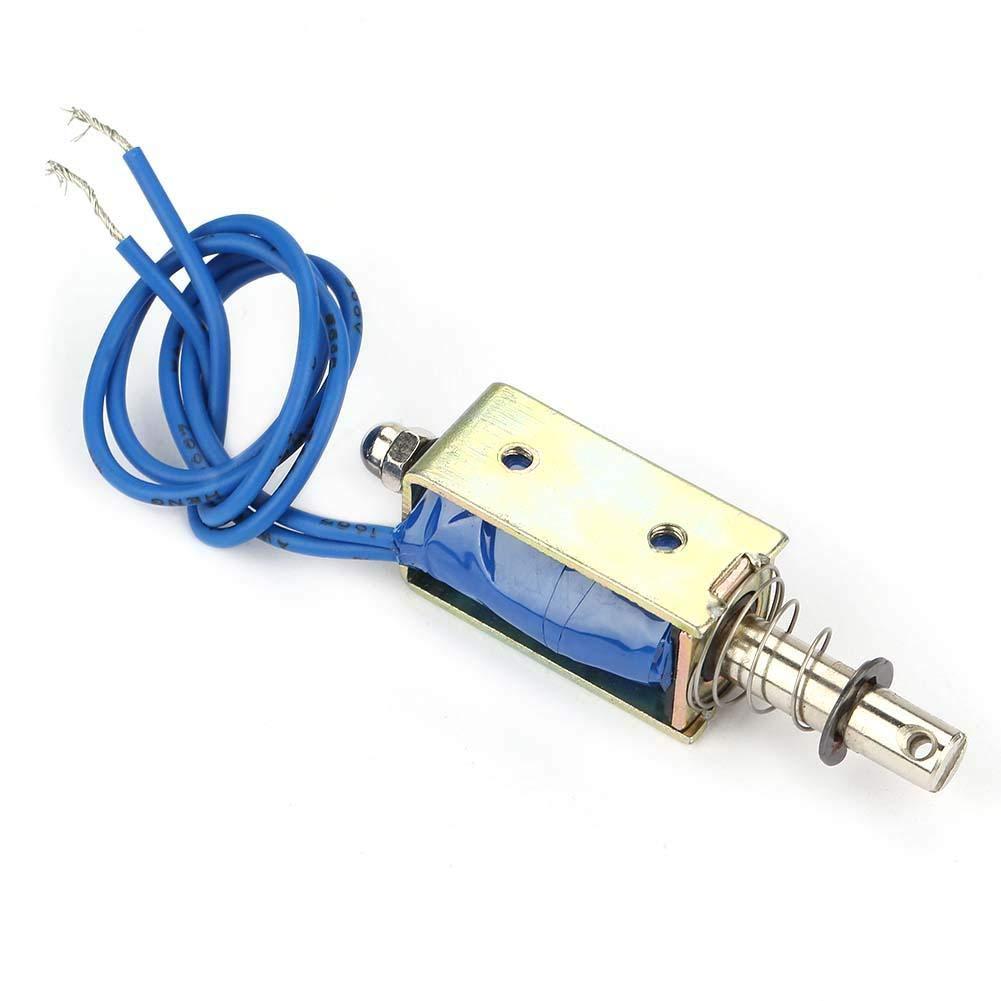 12V Nimoa Automation Control 6//12//24V DC 300mA DC Pull Elektromagnet 5N Einziehbereich 10 mm Elektromagnet JF-0530B