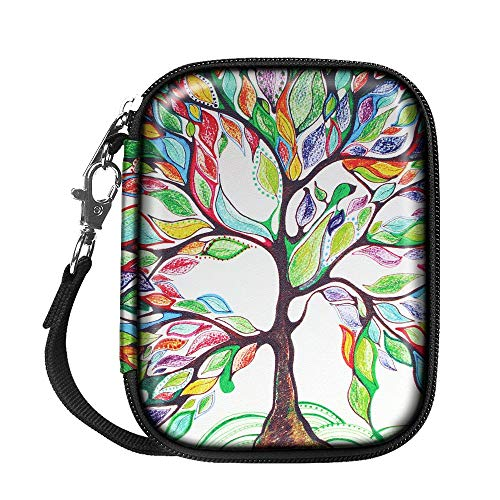 Fintie Carrying Case for Canon Ivy Mobile Mini Photo Printer, Polaroid Mint Instant Print Digital Camera - Hard EVA Shockproof Portable Storage Travel Bag (Love Tree)